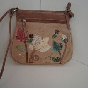 """Fossil  leather purse 9""""x9.5"""""""